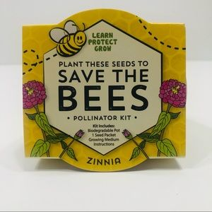 """Save the Bees"" Pollinator Kit (Zinnia) NWT"